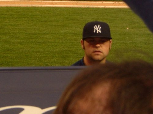 Joba needs to be looking out of the bullpen, not the dugout